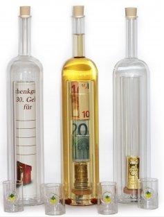 Geldgeschenke-Flasche