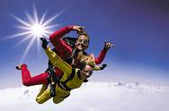 Fallschirm Tandemsprung �ber �sterreich