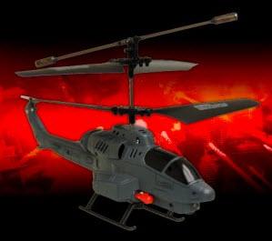 Helikopter mit Raketen und LED Lichtern