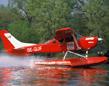 Wasserflugzeug fliegen �ber Berlin