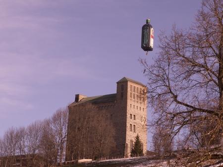 Der Jägermeister Ballon über der Burg
