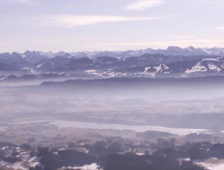 wunderschöne Alpensicht aus dfem Ballon